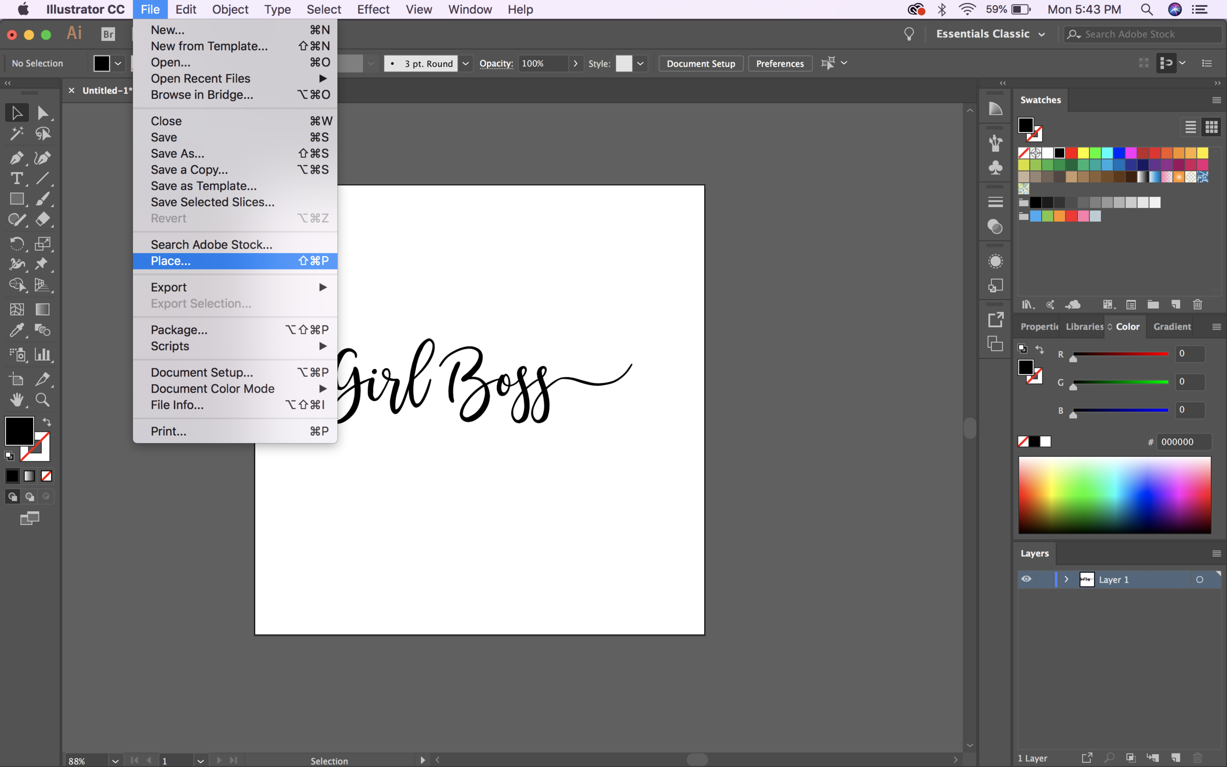 How to add a gold foil texture to your text using Illustrator! by EG Media Co. – Design Tips, Illustrator tips, graphic design, design, textures, gold textures, patterns, fonts
