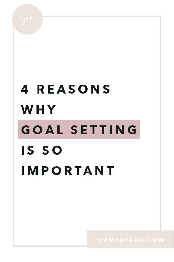 4 reasons why goal setting is so important blog by EG Media Co. | goals, goal setting, goal setter, girl boss, goal digger, business owner, small business owner, long-term vision, long term goals, stay focused