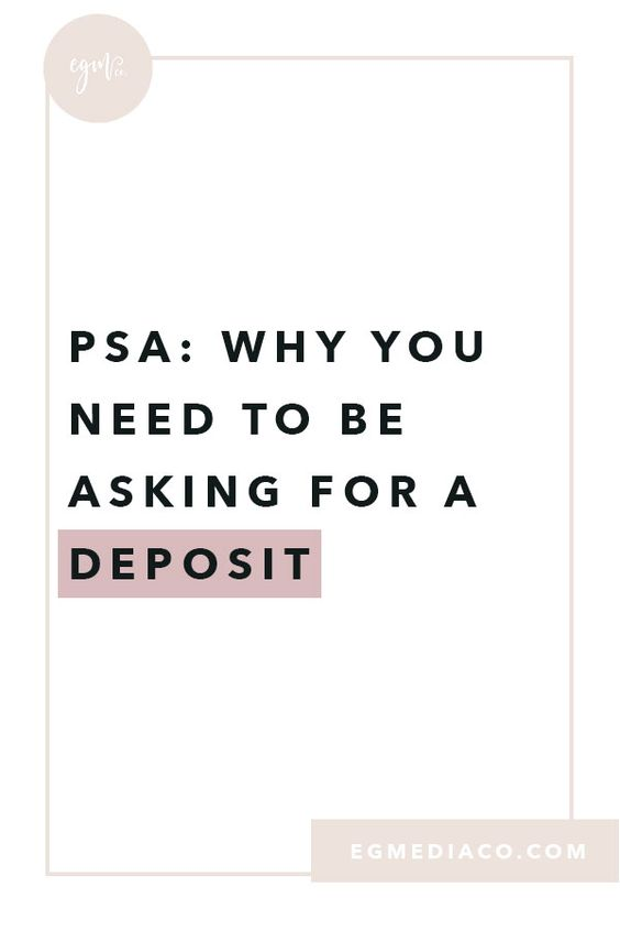 PSA: Why you NEED be asking for a deposit by EG Media Co. | small business tips, online business owner, freelance work, freelancer, security deposit