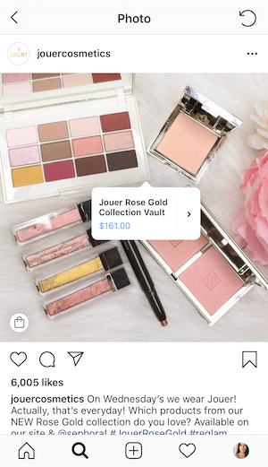 reach more people by enabling shopping on instagram through squarespace by EG media Co | jouer cosmetics, shopping on instagram, products on instagram, shop on instagram, instagram products, beauty products, beauty community, social media tips, small business tips, squarespace tips