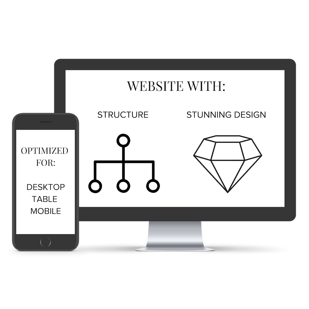 WebSITE Design - Ready to gain *instant credibility* online? Our custom websites have strategy and framework behind them so you can book dreamy clients effortlessly. Ditch having to browse endless freebies trying to find the one that will magically design the site of your dreams. I've got you, girl!