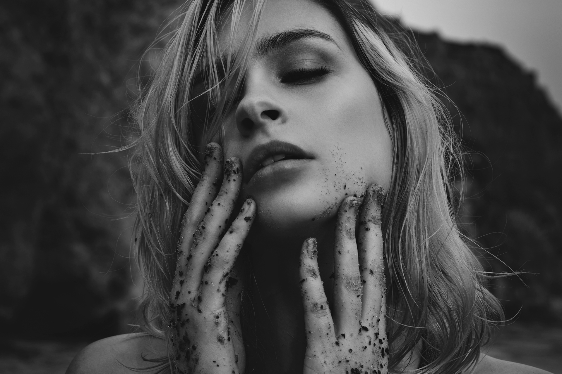 Above: Laura Duenninger  Beauty by Edward Mayeda  Photographed by Sabine Skiba