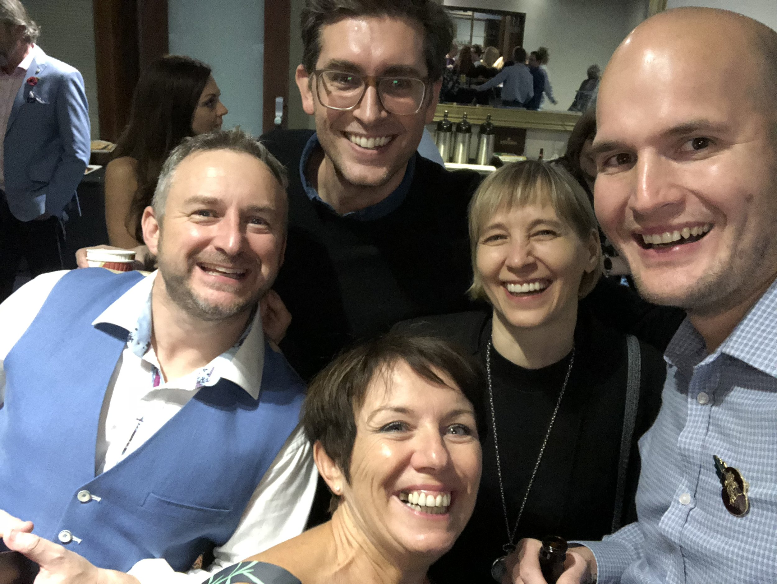GALA DINNER NIGHT WITH MELISSA TIERS, KARL SMITH, JANET THOMPSON AND DANIEL RYAN.