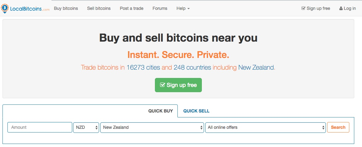 Buy or sell BTC in NZ with localBitcoin - Click to be redirected