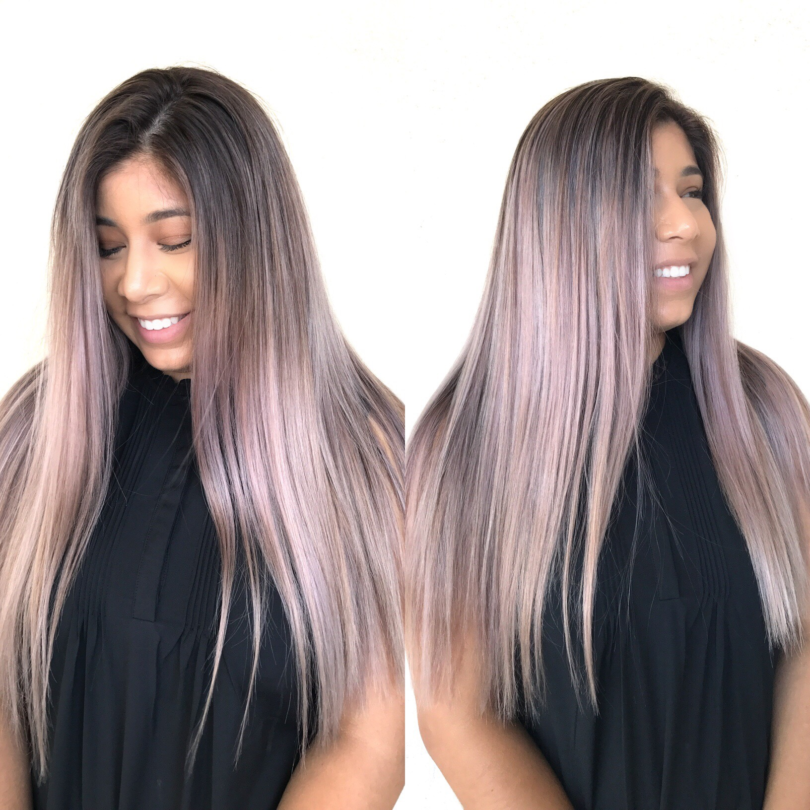 Fantasy color | Lilac, long layers