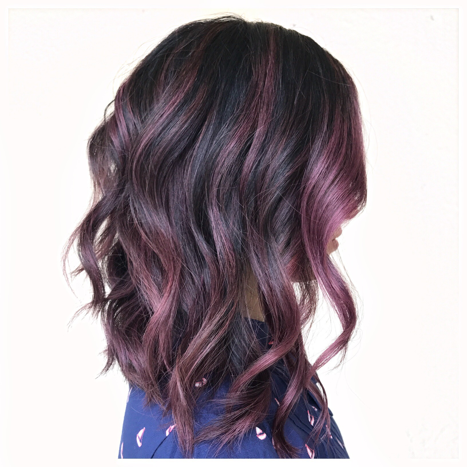 Fantasy color | mid length haircut
