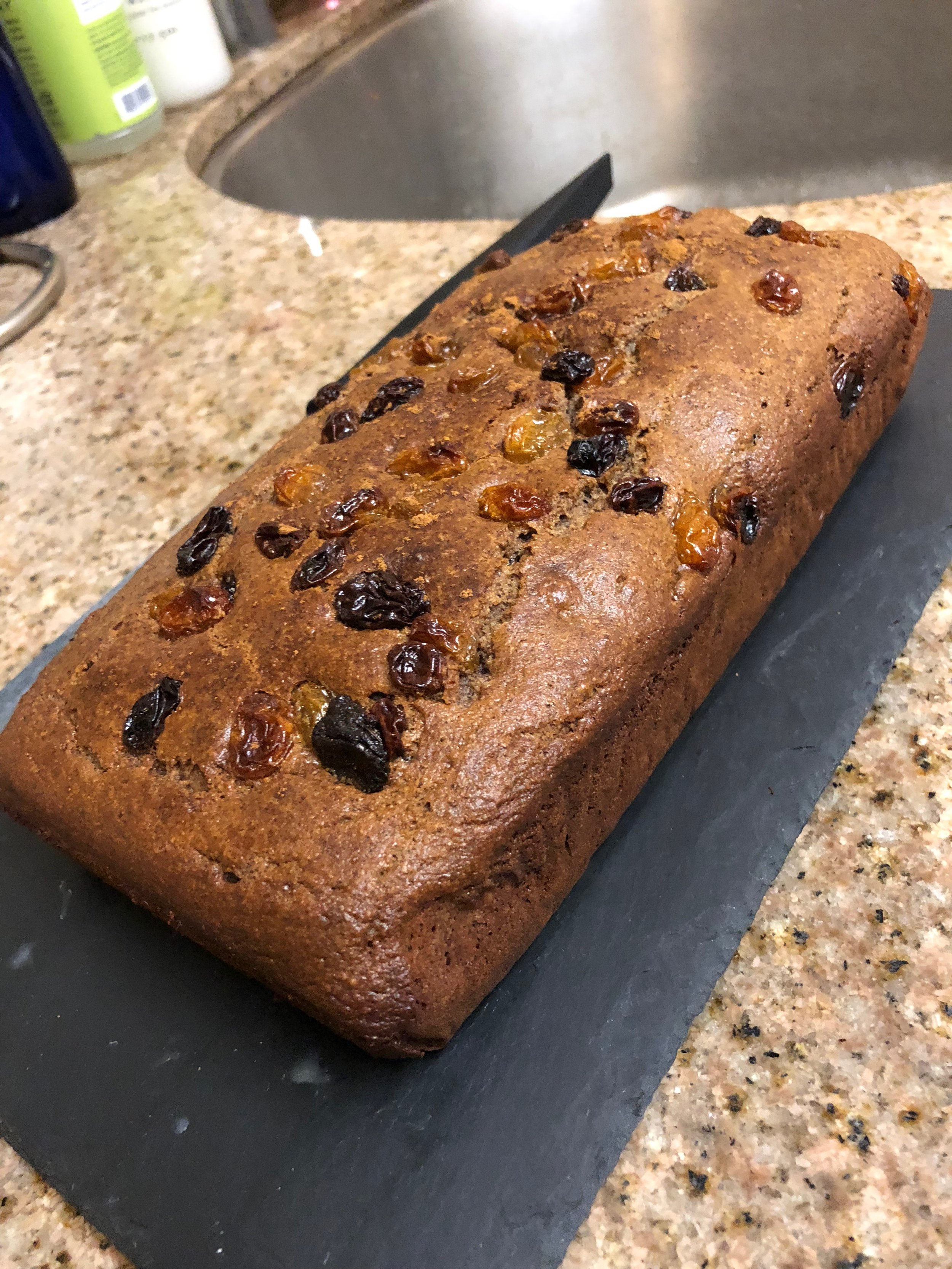 Paleo Cinnamon Raisin Loaf