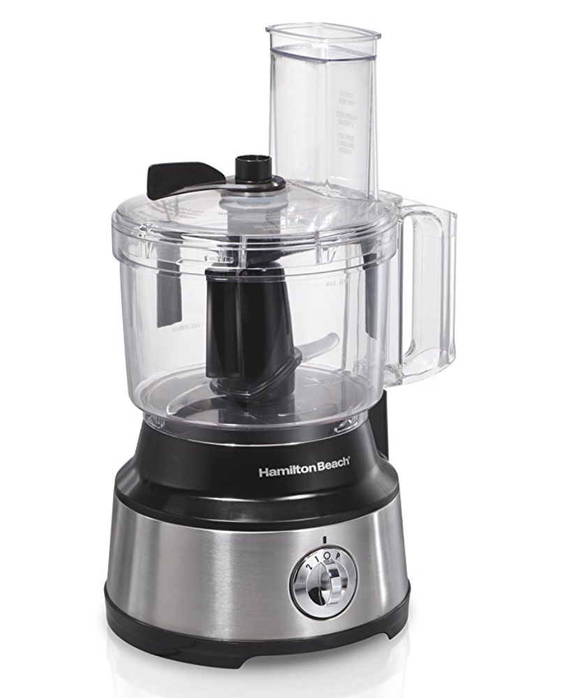"""Food Processor, Hamilton Beach    My nut butter miracle machine! This guy makes our roasted almond butter and chocolate sea salt almond butter, and would be worth it for those recipes alone. We also use it for power balls, pesto and other kitchen tasks. We used a blender for a while, but this takes it to the next level and the """"scraper"""" feature is so helpful."""