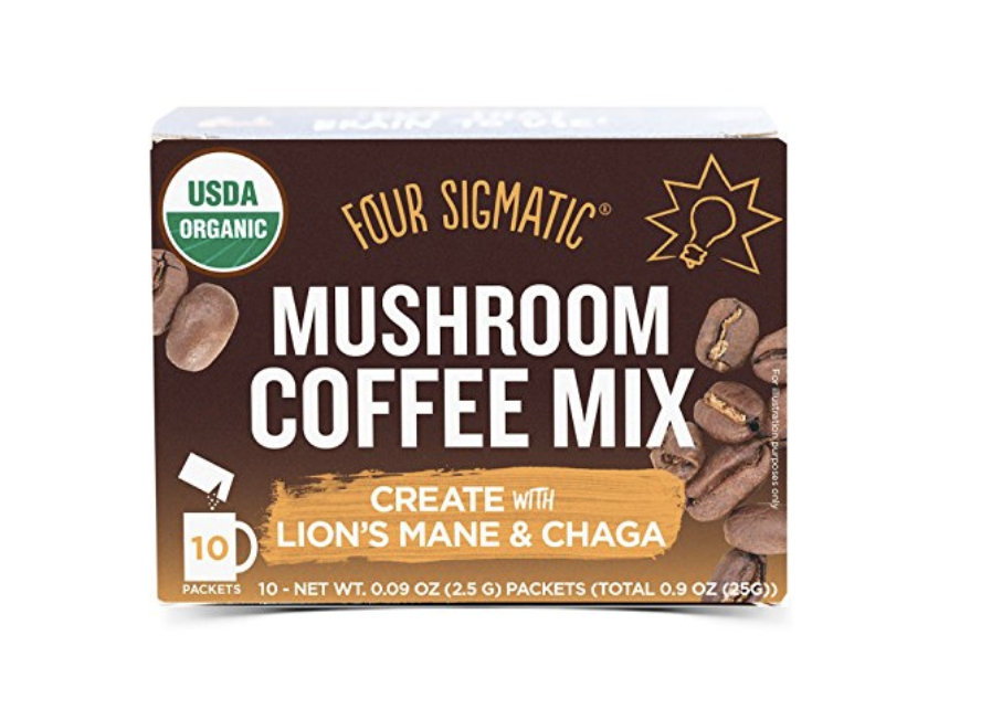 """Four Sigmatic Coffee    This whole section could be filled with Four Sigmatic products, I love them that much! This is a great alternative for mornings I don't want a """"full"""" coffee. It does have some caffeine, but less than regular brewed coffee and I find it doesn't make me as jittery. I also love their  Mocha Mushroom Mix  if I wake up with a sweet tooth."""