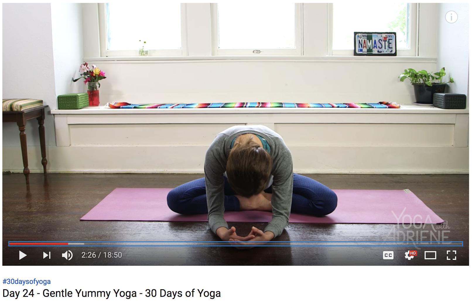 Gentle Yummy Yoga with Adriene (20 min)