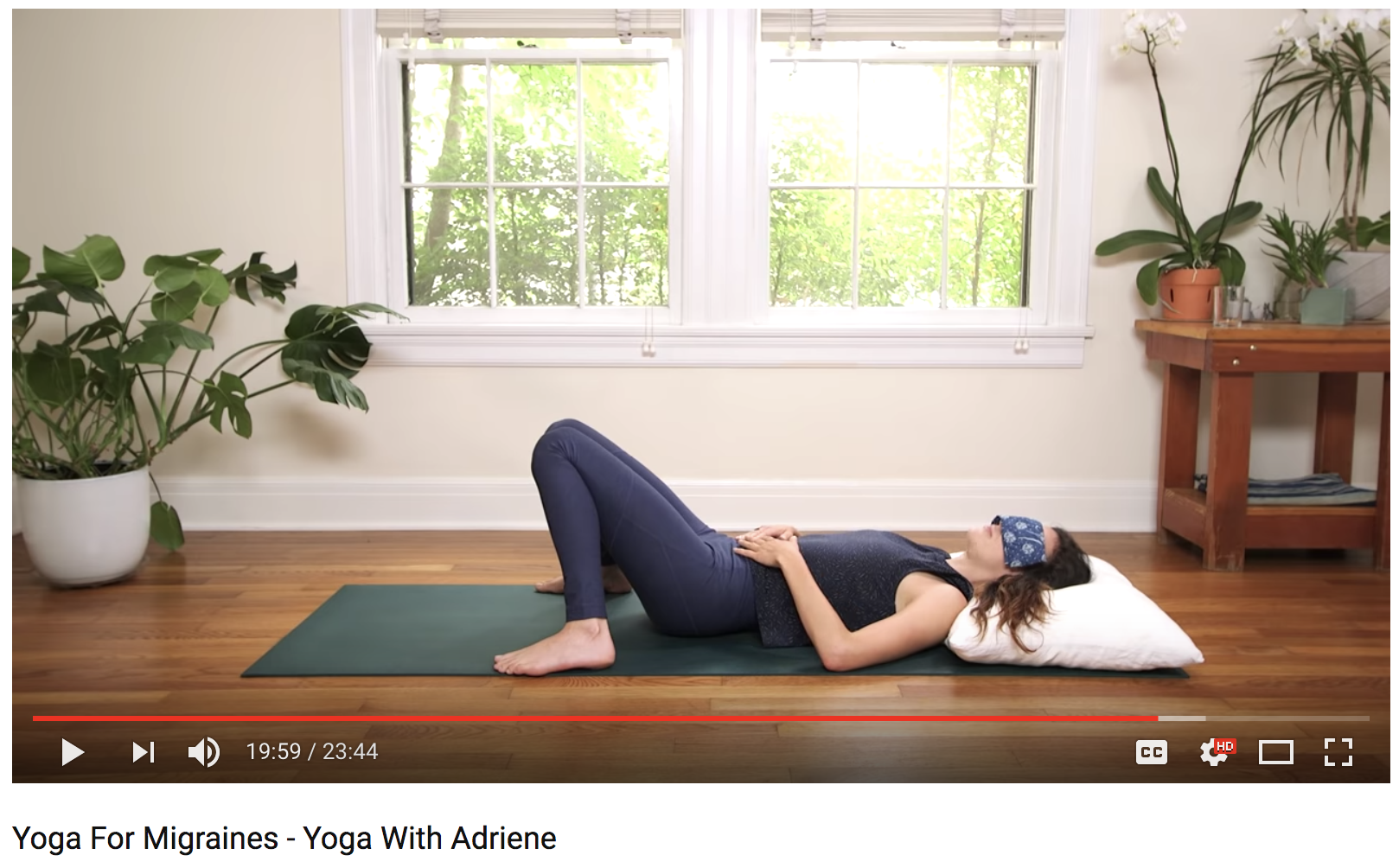 Yoga For Migraines with Adriene (23 min)