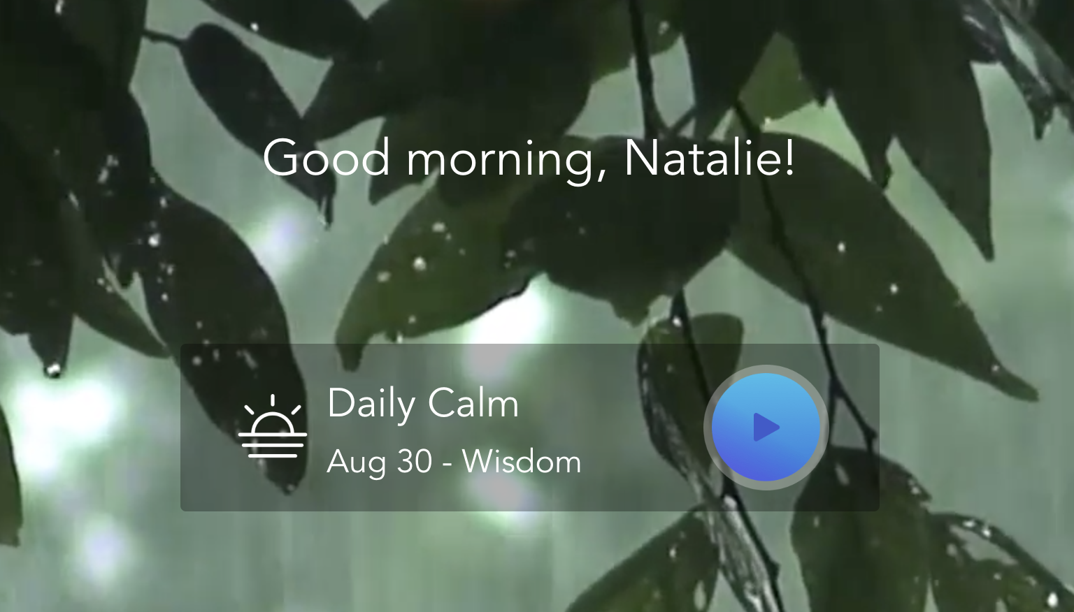 Calm App , Guided Meditations