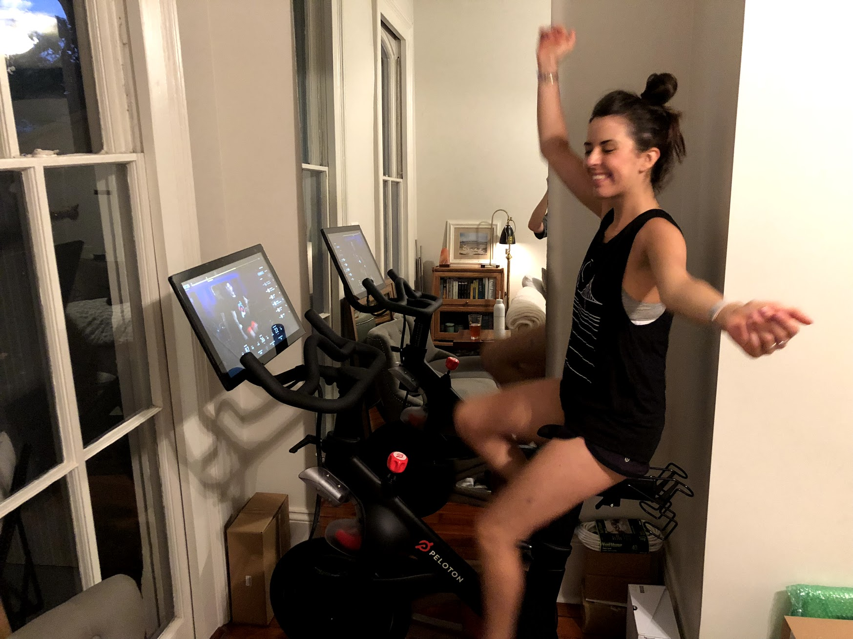 I feel like a strong af badass every time I can do a peloton ride! This def makes my list 😎