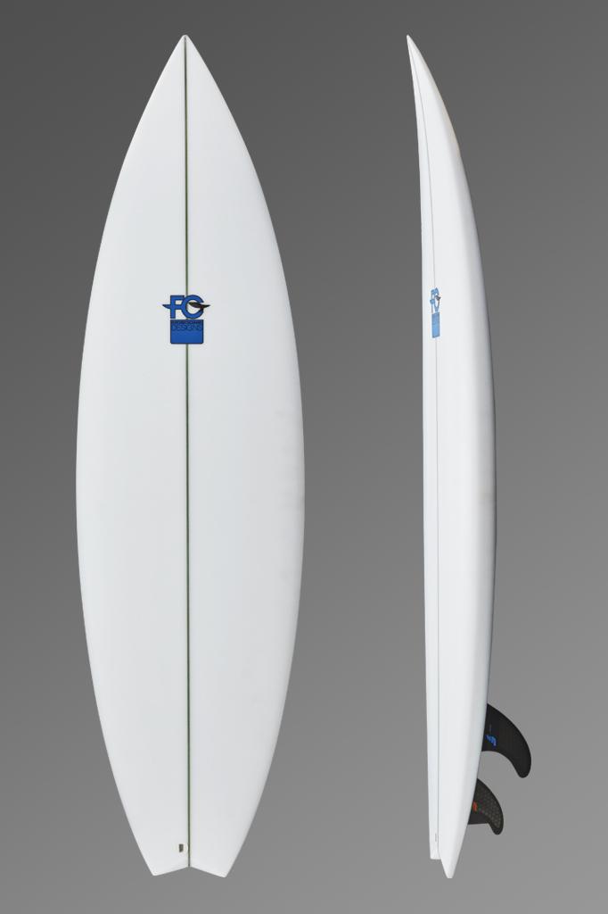 FCD Surfboards_Shortboard_Mullet Blue Logo Front + Side_Grey Gradient.jpg