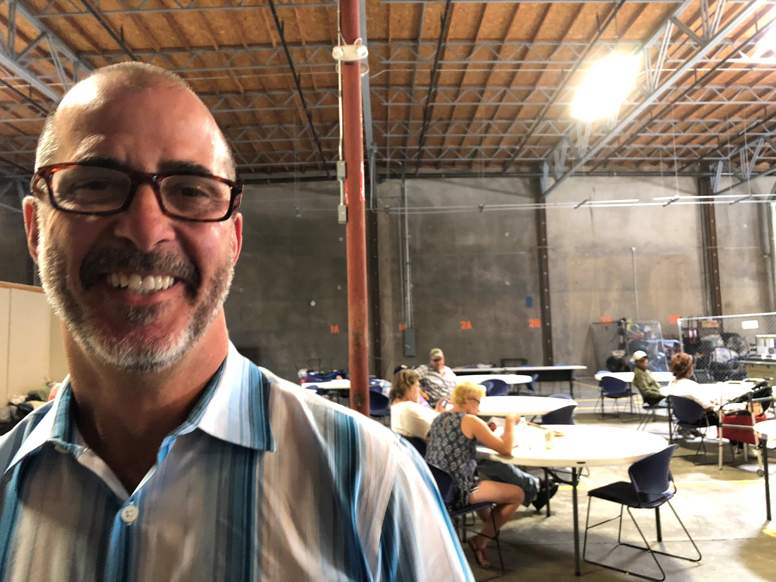 David J. Silveira is the director for shelter services at Volunteers of America, which runs the Triage Center. He said he has been struck by the sense of community that residents have created during their time at the temporary shelter.