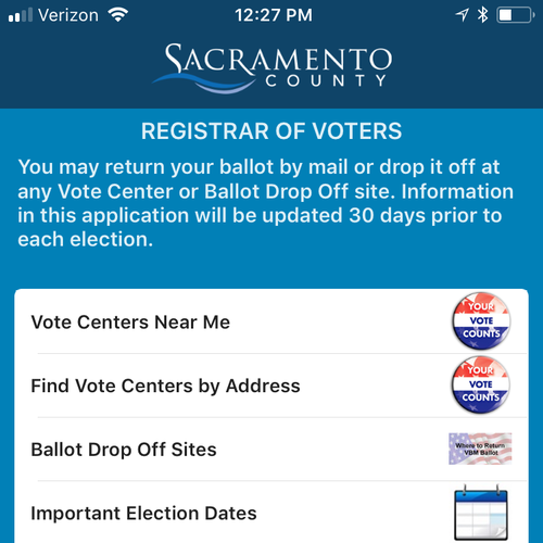 Learn about the Sacramento County Elections smart phone app here.
