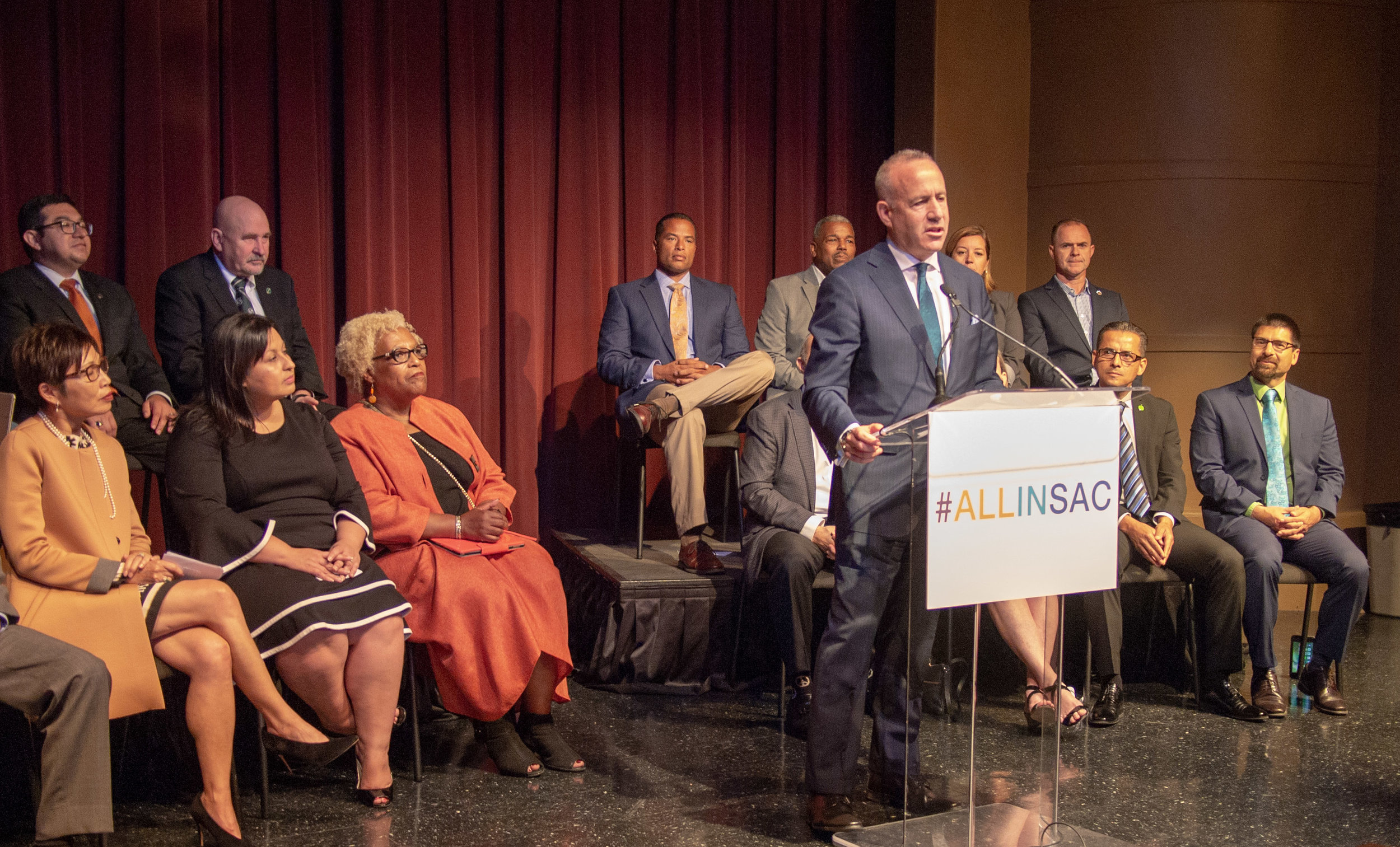 Mayor Steinberg outlines his vision for Measure U at a June 7 speech at Sacramento City College