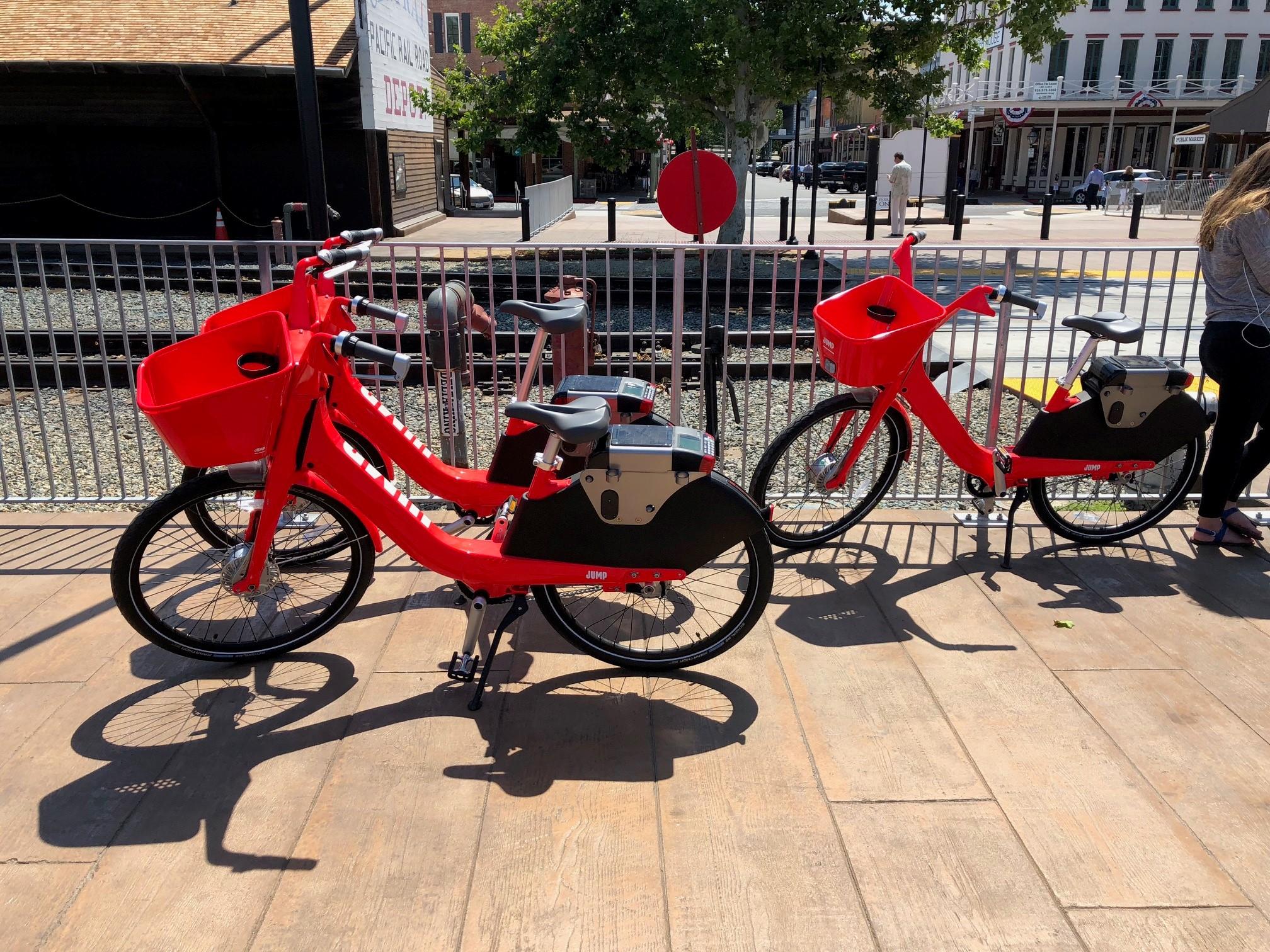 JUMP Bikes in Old Sacramento
