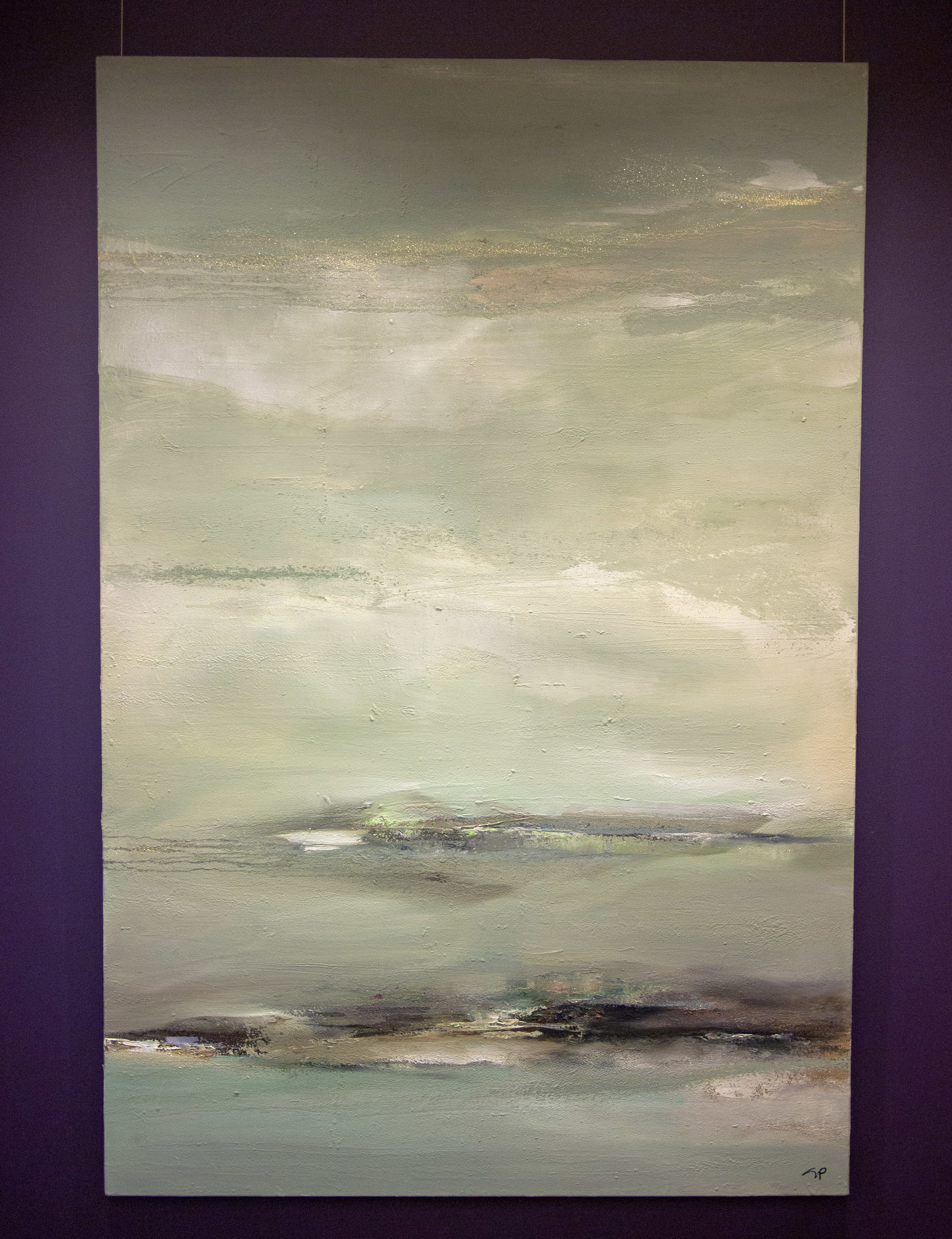 """Mindscape 72"""" x 48"""" Oil and Mixed Media on Canvas"""