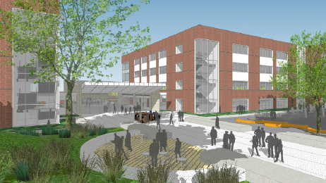 A rendering of a building plans for Centene's campus in North Natomas.  SOURCE: HINES - Sacramento Business Joural