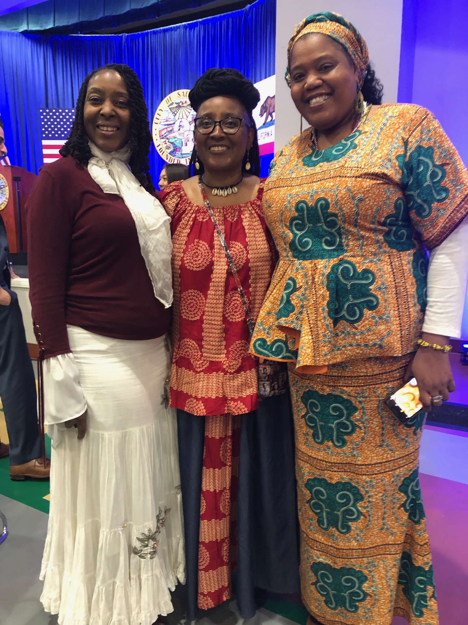 Miss Jackie Rose (middle) with her colleagues Yolanda Stevenson (left) and RoLanda Wilkins
