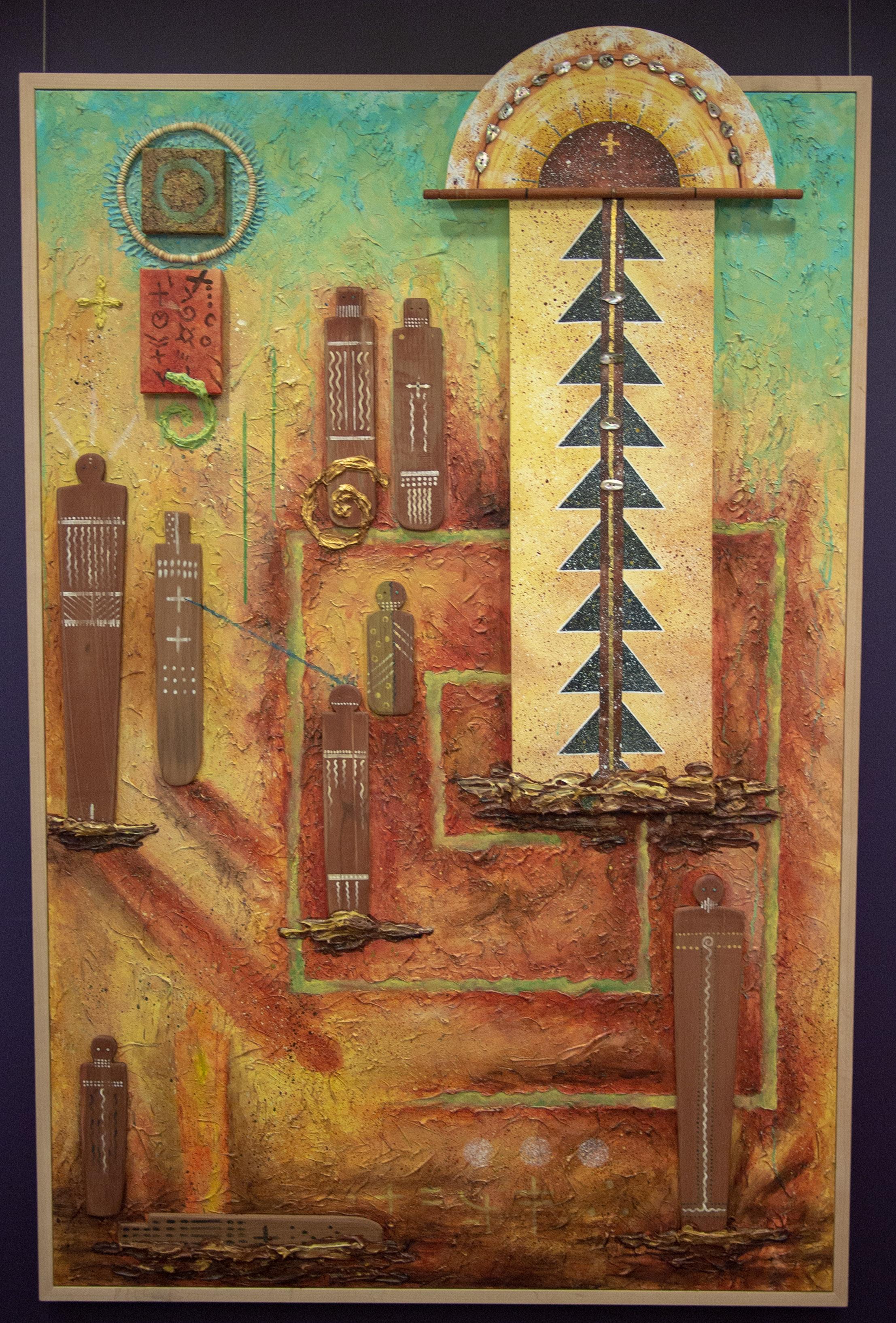 Great Principle ,  handmade mineral and plant colors, acrylic medium, and mixed-media materials.