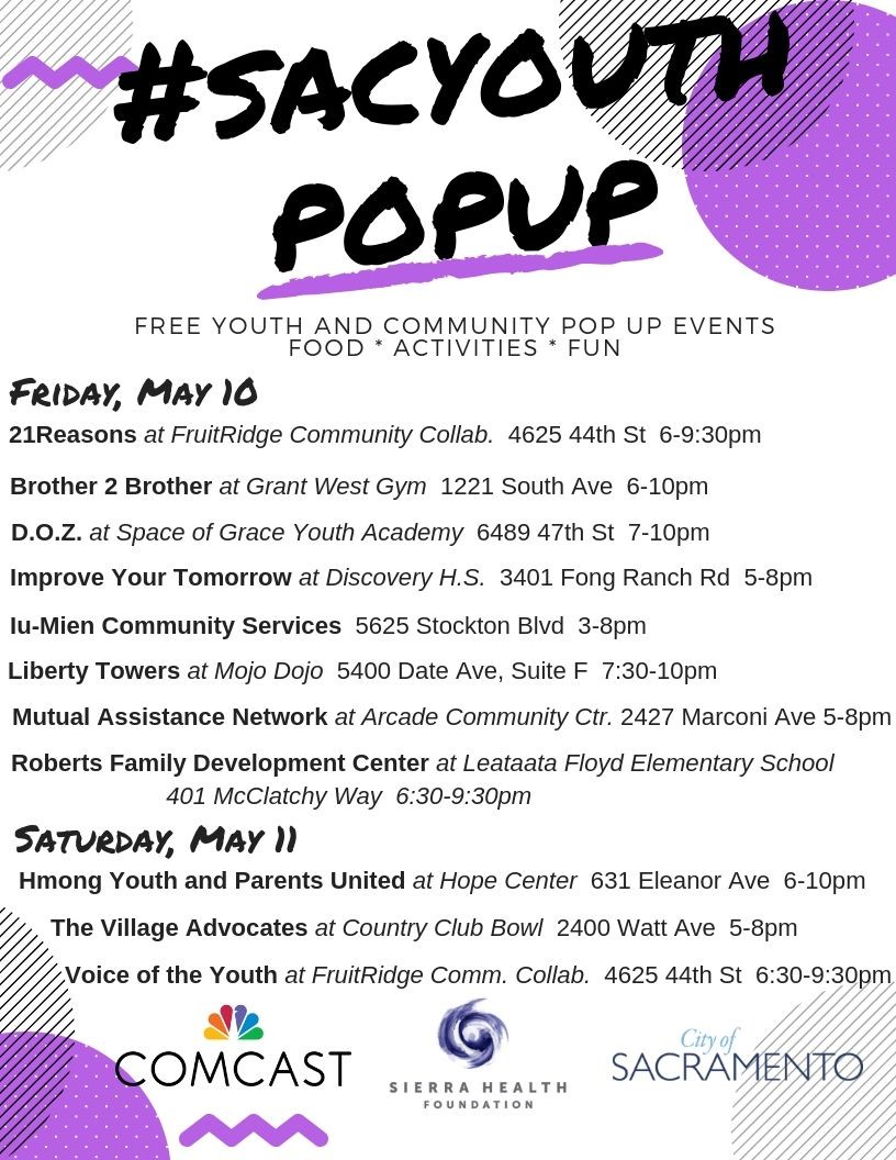 #SacYouthPopUp