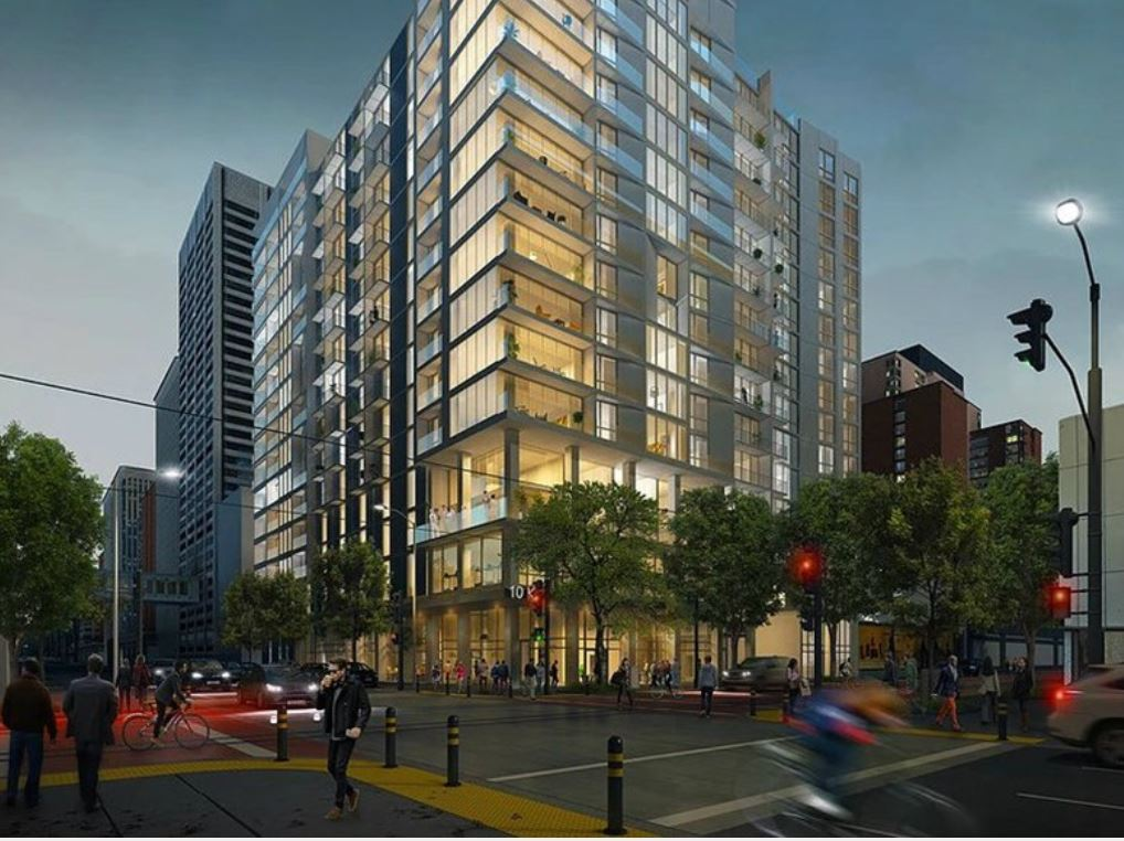 Artist's rendering of 10th and K project
