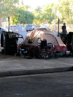 Homeless camp near the W/X Freeway