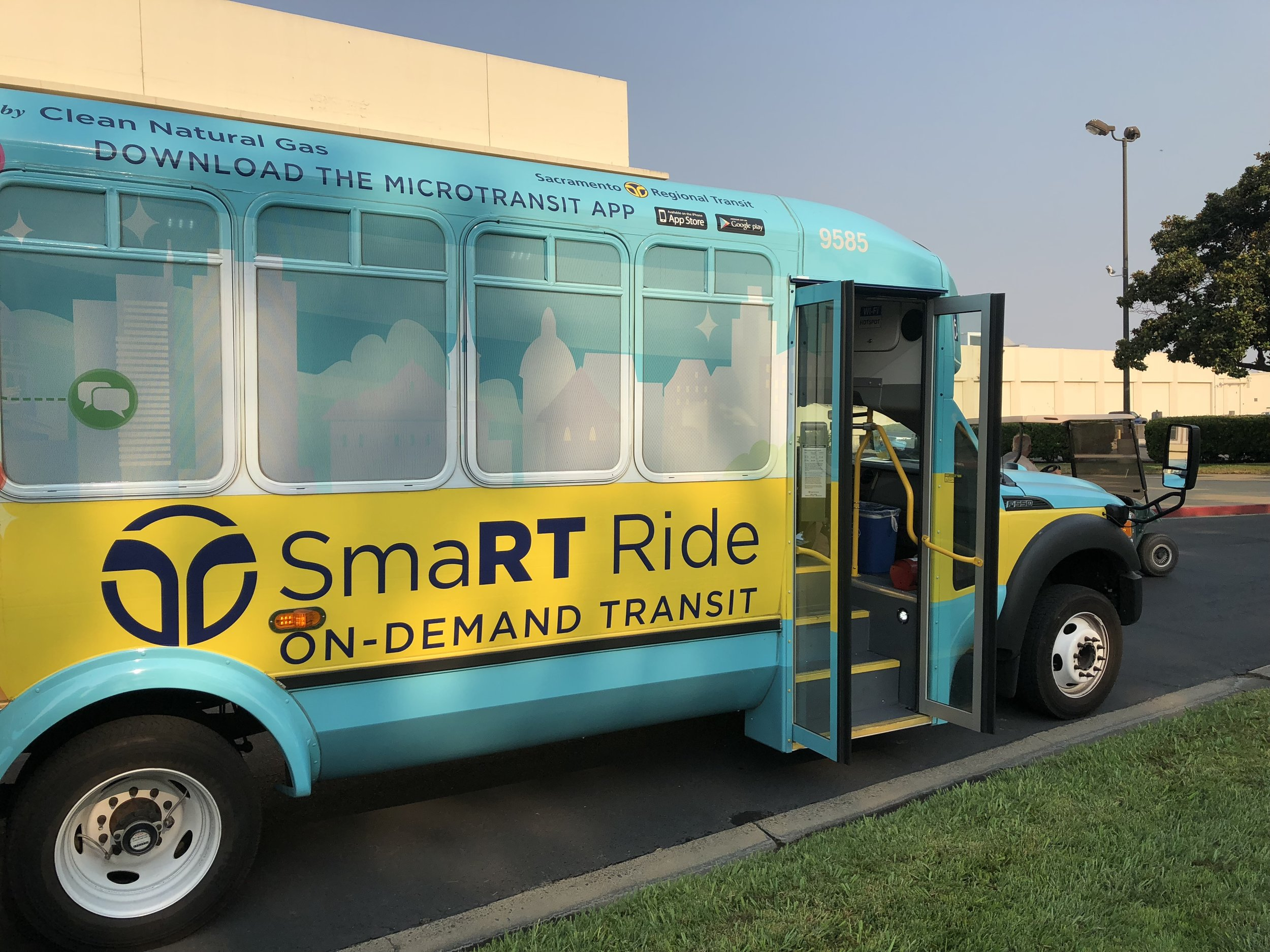 RT's new SmaRT Ride micro-buses can be summoned on demand through a smart phone app.