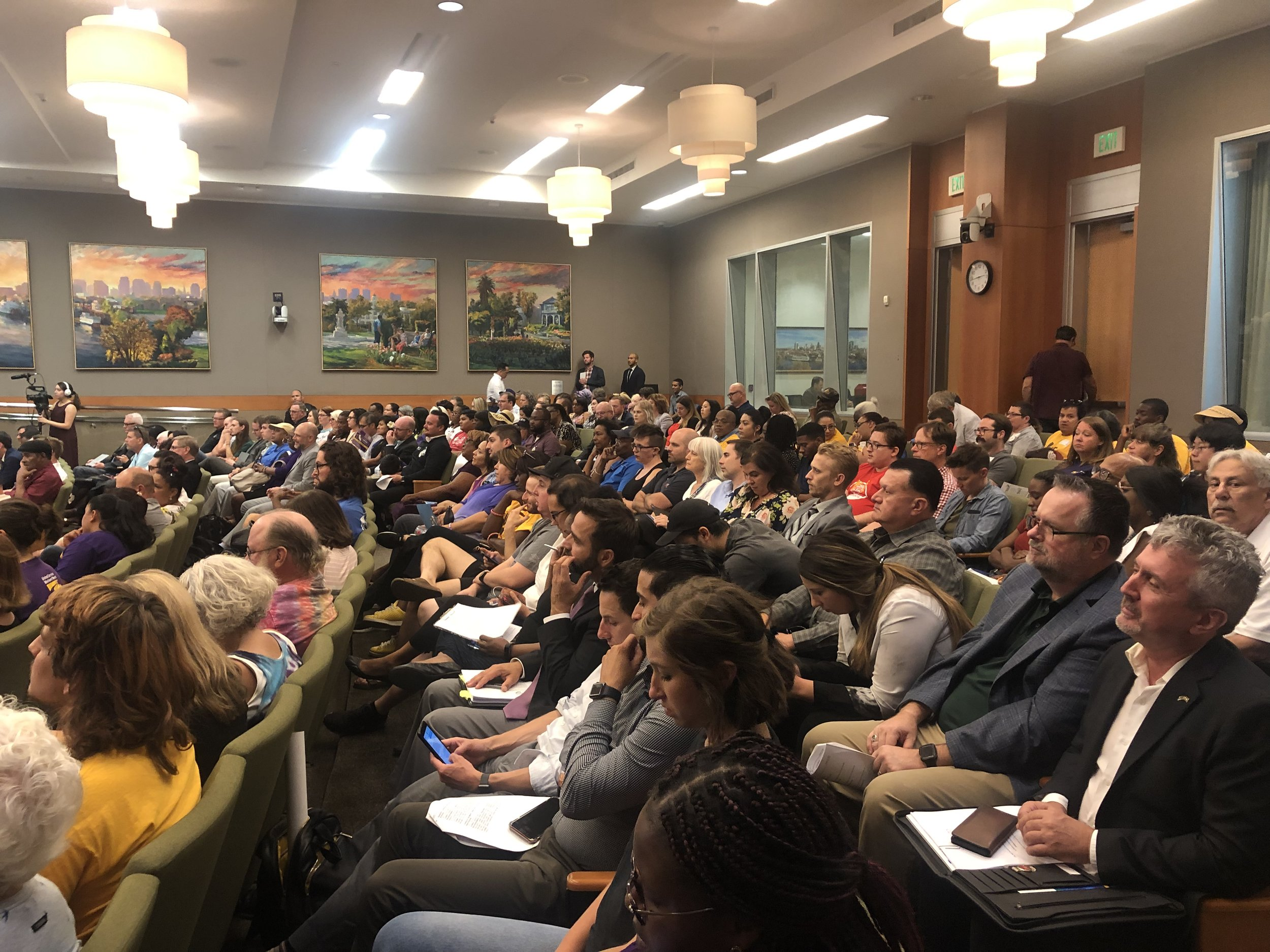 The City Council chambers was packed for the August vote on new renter protections
