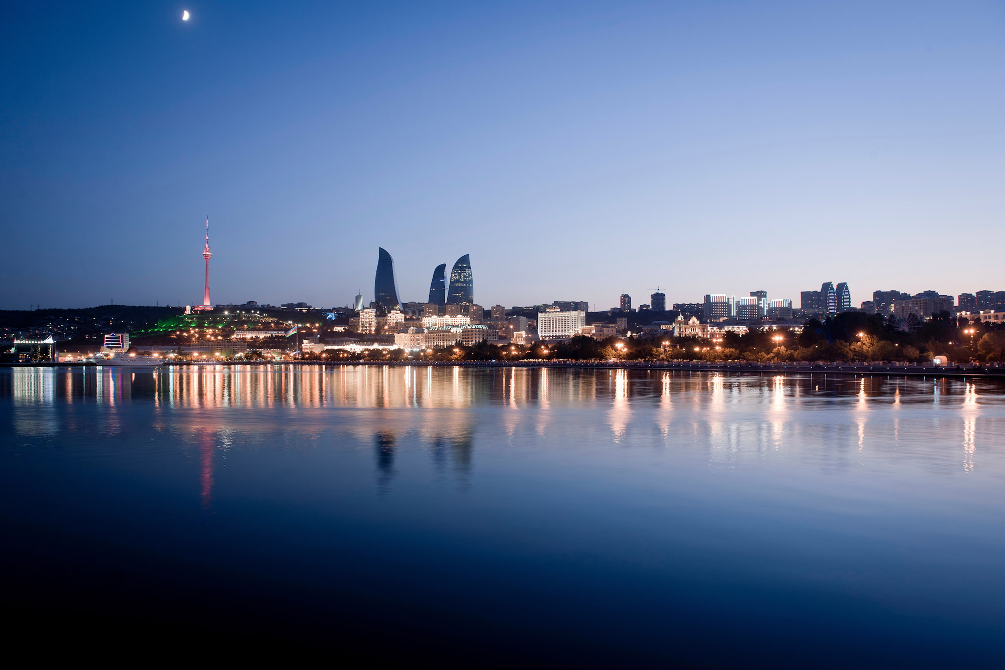 View of Baku at night