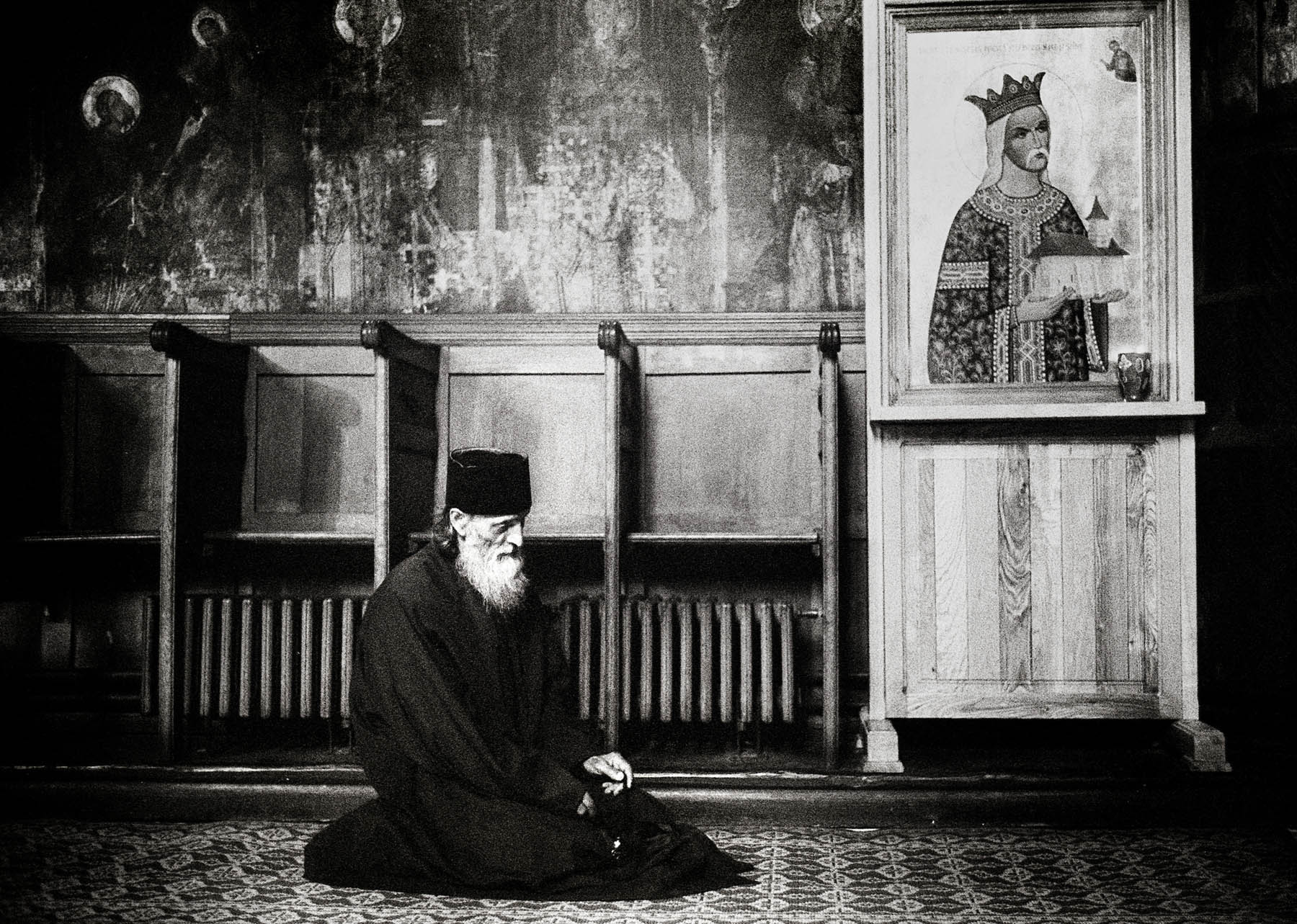 Orthodox monks in Romania