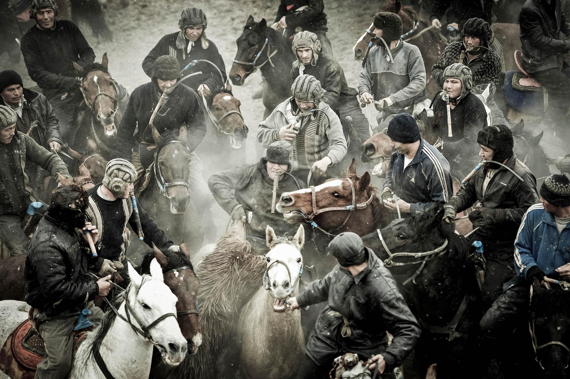 Buzkashi contest, Ros village, Uzbekistan