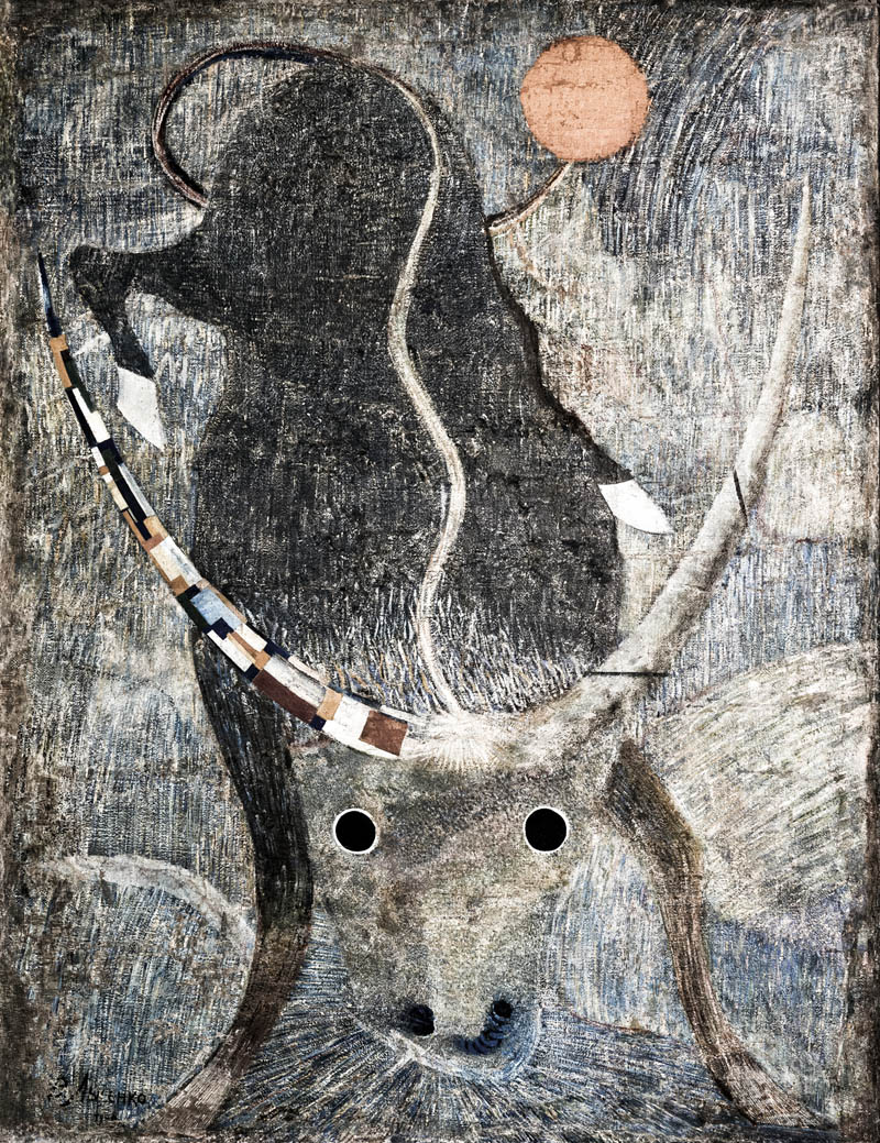 Vladimir Lysenko (1903-1950s), The Bull (El Toro)  - Colección Igor Savitsky, Nukus, Usbekistán. El Museo de Arte de Karakalpak alberga la Colección Savintsky y sus obras de vanguardia tardía de diferentes tendencias: constructivismo y cubo-futurismo. El museo cuenta con un total de más de 90.000 piezas de todo tipo: arqueología, escultura, tejidos, joyería, antigüedades y obras de artistas uzbekos contemporáneos. Sólo el 3% de estas obras están expuestas. Foto reproducción © Ezequiel Scagnetti.