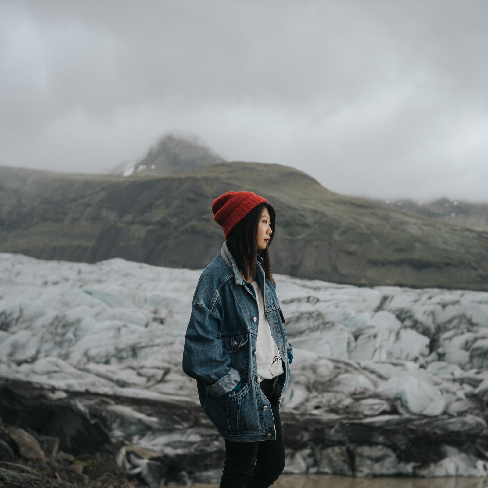 Glacier portrait of TJ Lee by Jaclyn Le