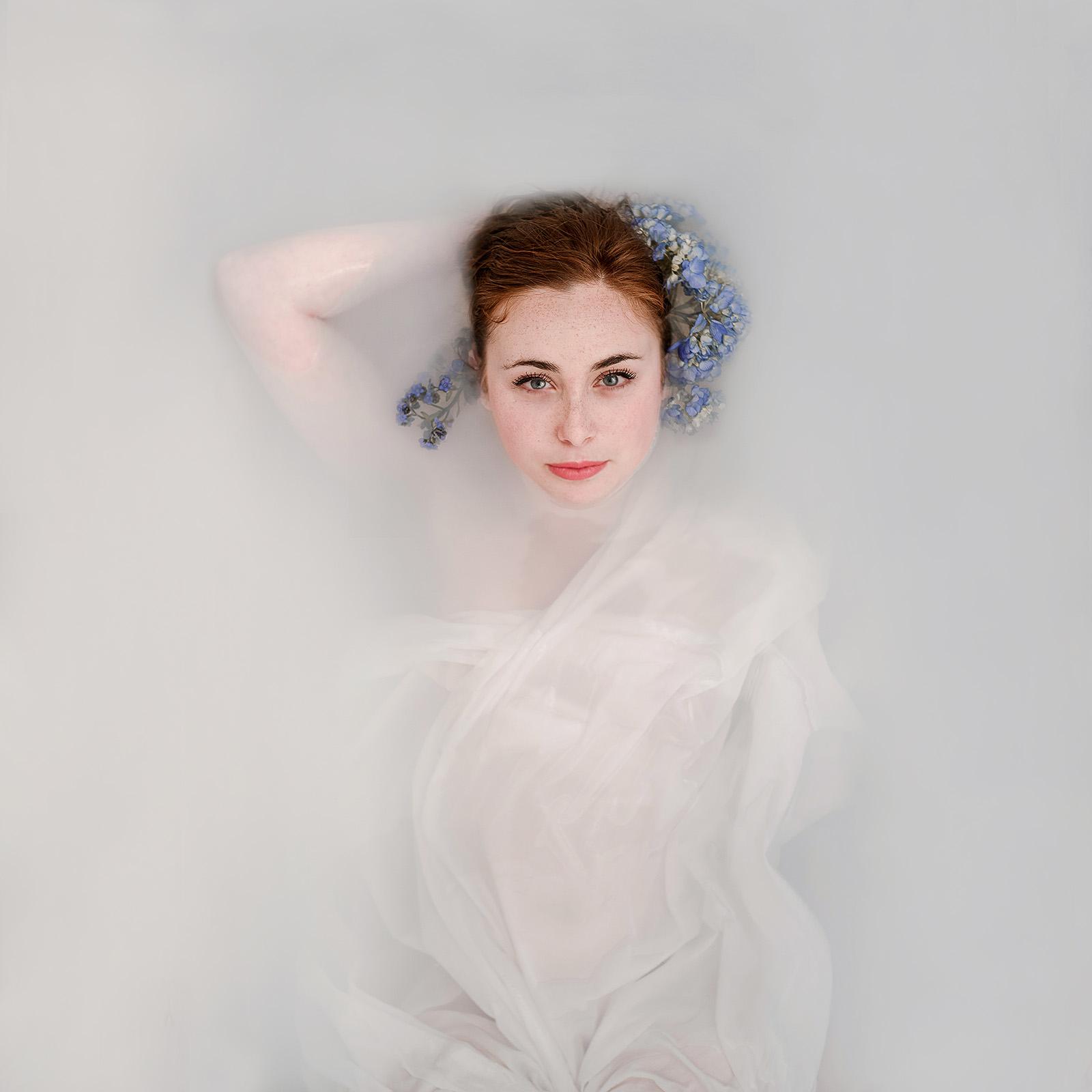 Goddess Milk Bath Portrait of Floriane by Jaclyn Le