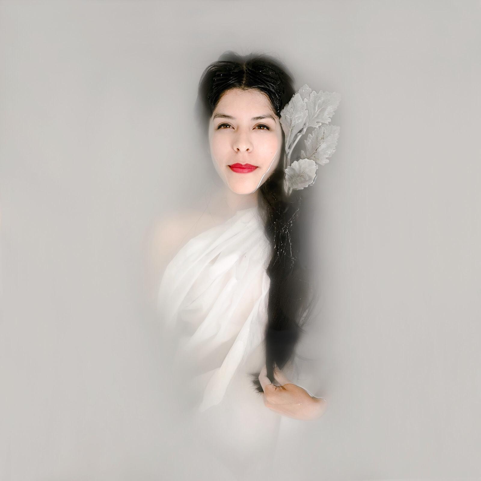 Goddess Milk Bath Portrait of Cyndy Alfaro by Jaclyn Le