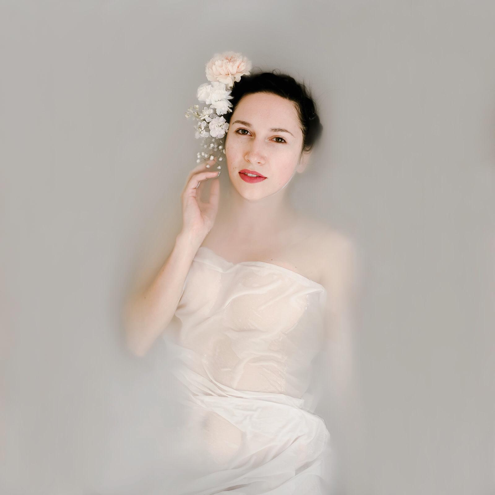 Goddess Milk Bath Portrait of Anastasia by Jaclyn Le