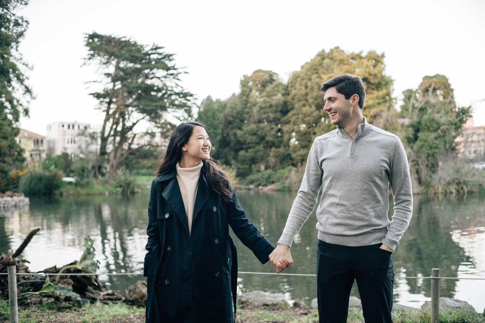 Amanda & Teddy - Palace of Fine Arts SF engagement photo shoot by Jaclyn Le