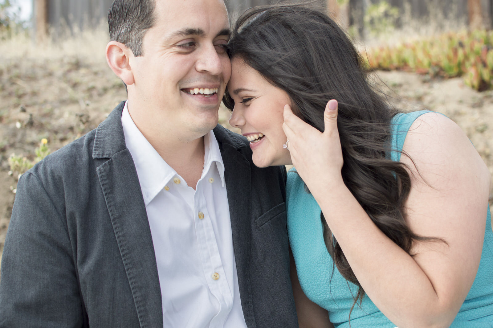 Javi & Claudia - Fitzgerald Marine Reserve engagement photography by Jaclyn Le