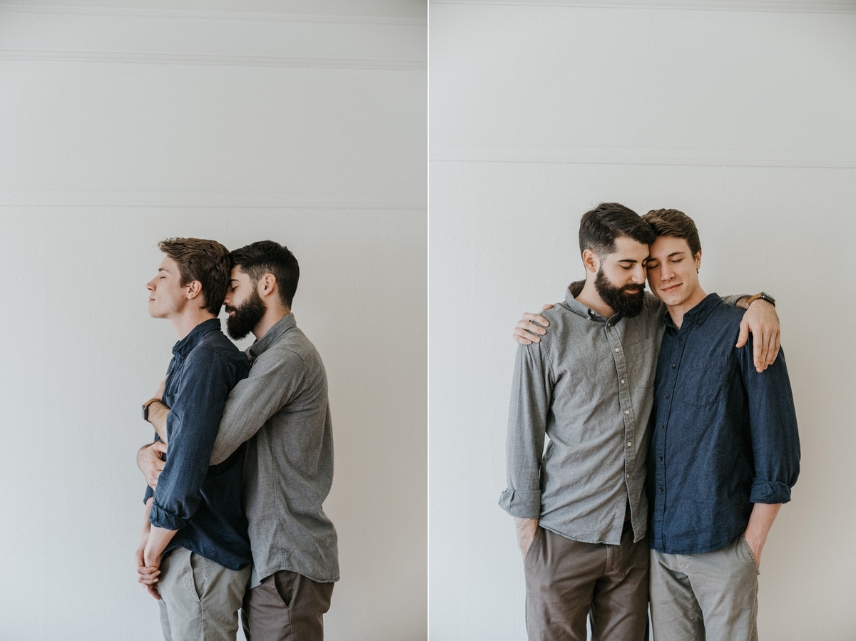 SF gay engagement photo session