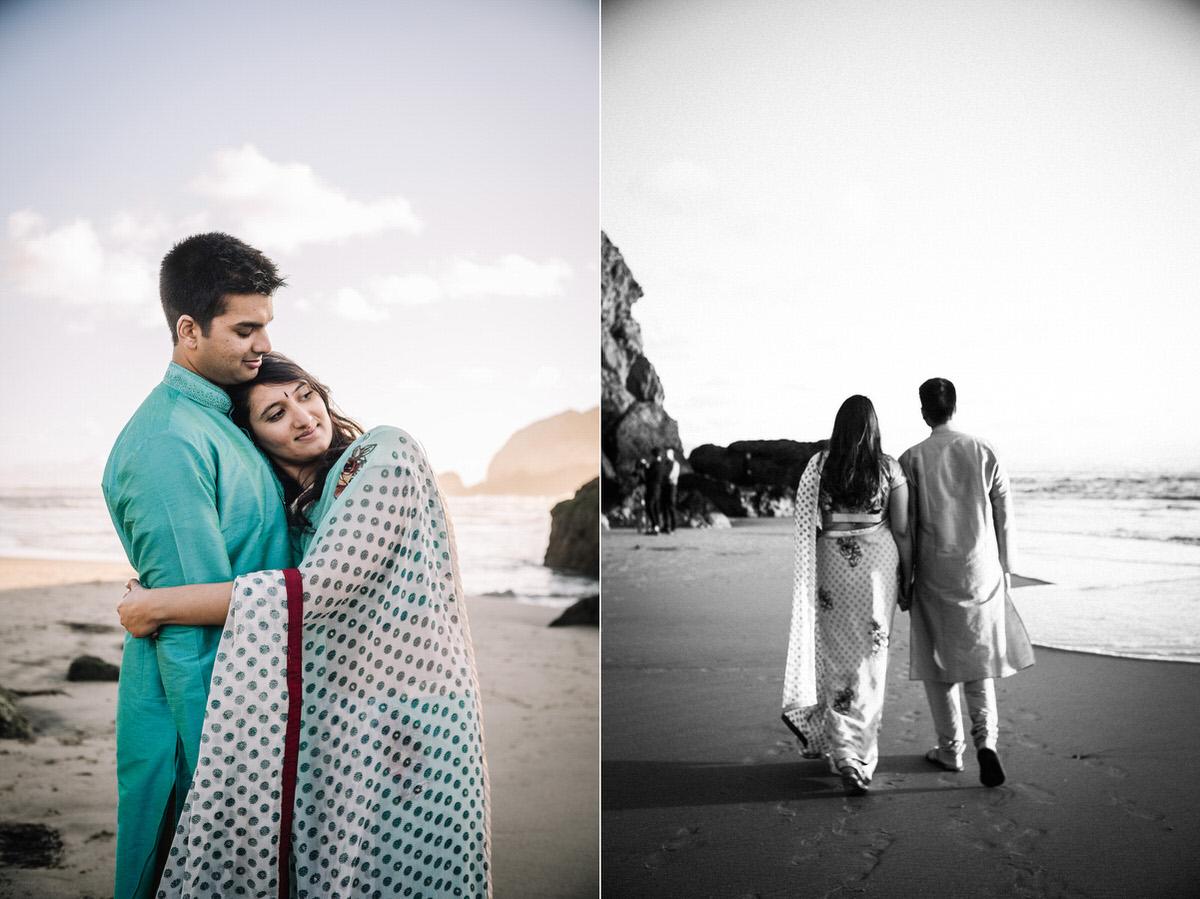 Sutro Baths SF Indian Engagement Photos Ambika + Vikas