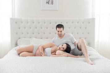 Crissy & Ryan - Maternity boudoir photography by Jaclyn Le