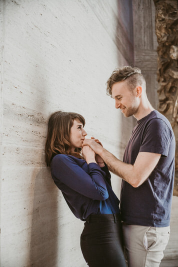 Conor & Gerri SF Engagement Photo Shoot at St Mary's Church by Jaclyn Le