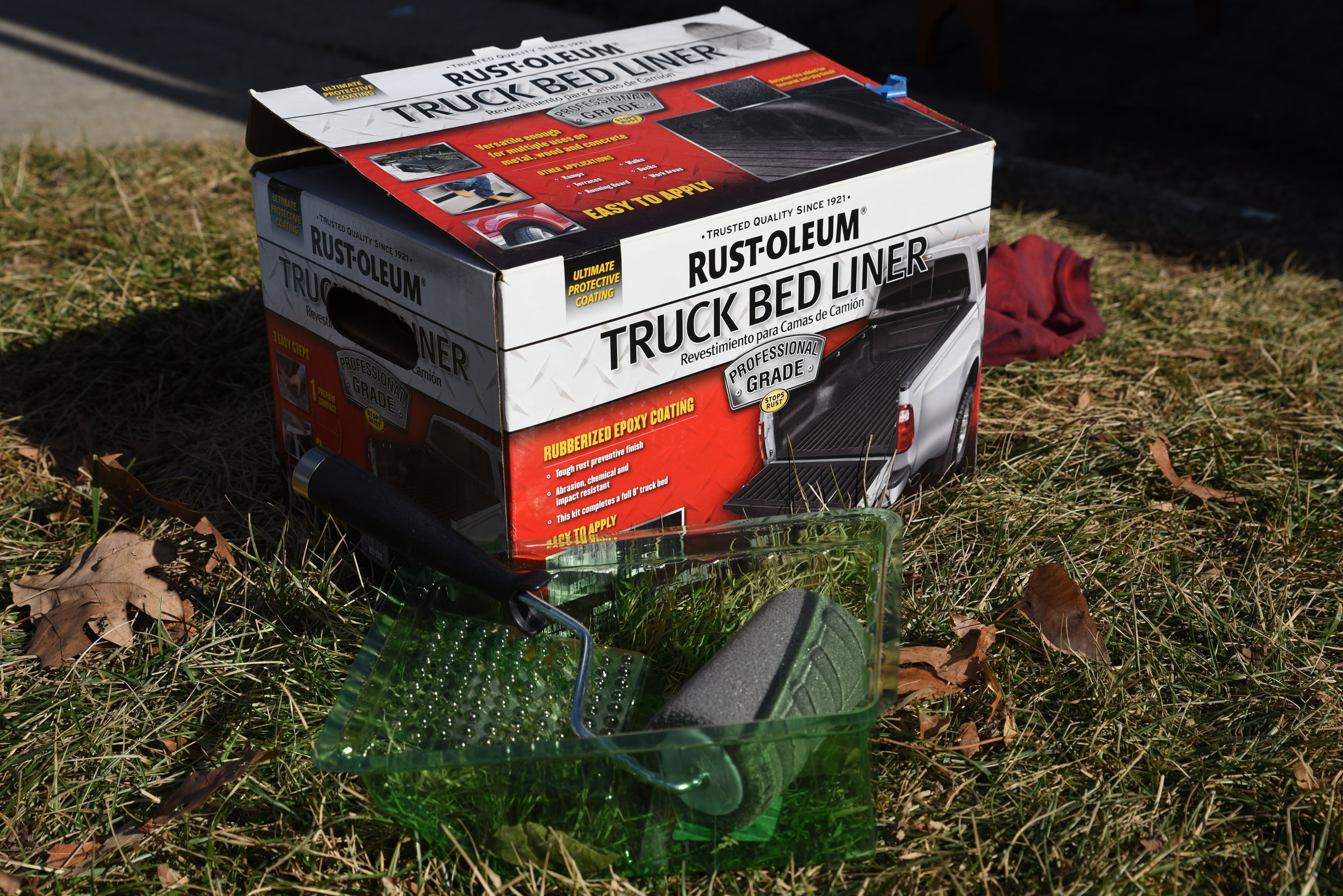 This two-part truck bed liner has held up really well over time. We haven't had any chipping or flaking.