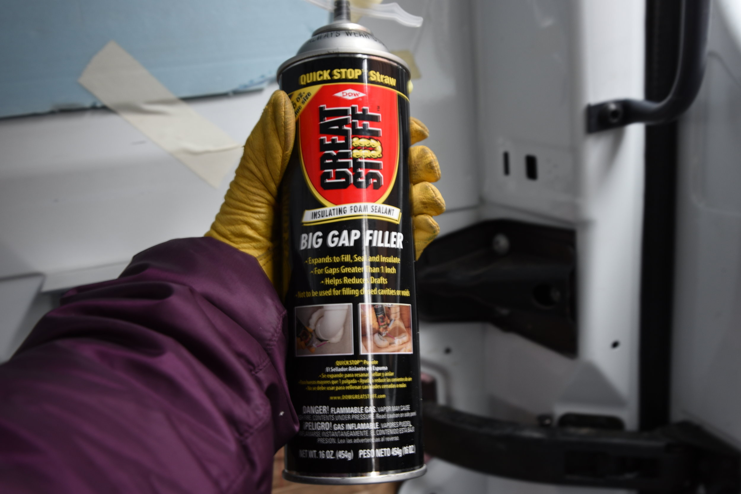 We use the Big Gap filler since the areas we were trying to fill had quite a lot of space.