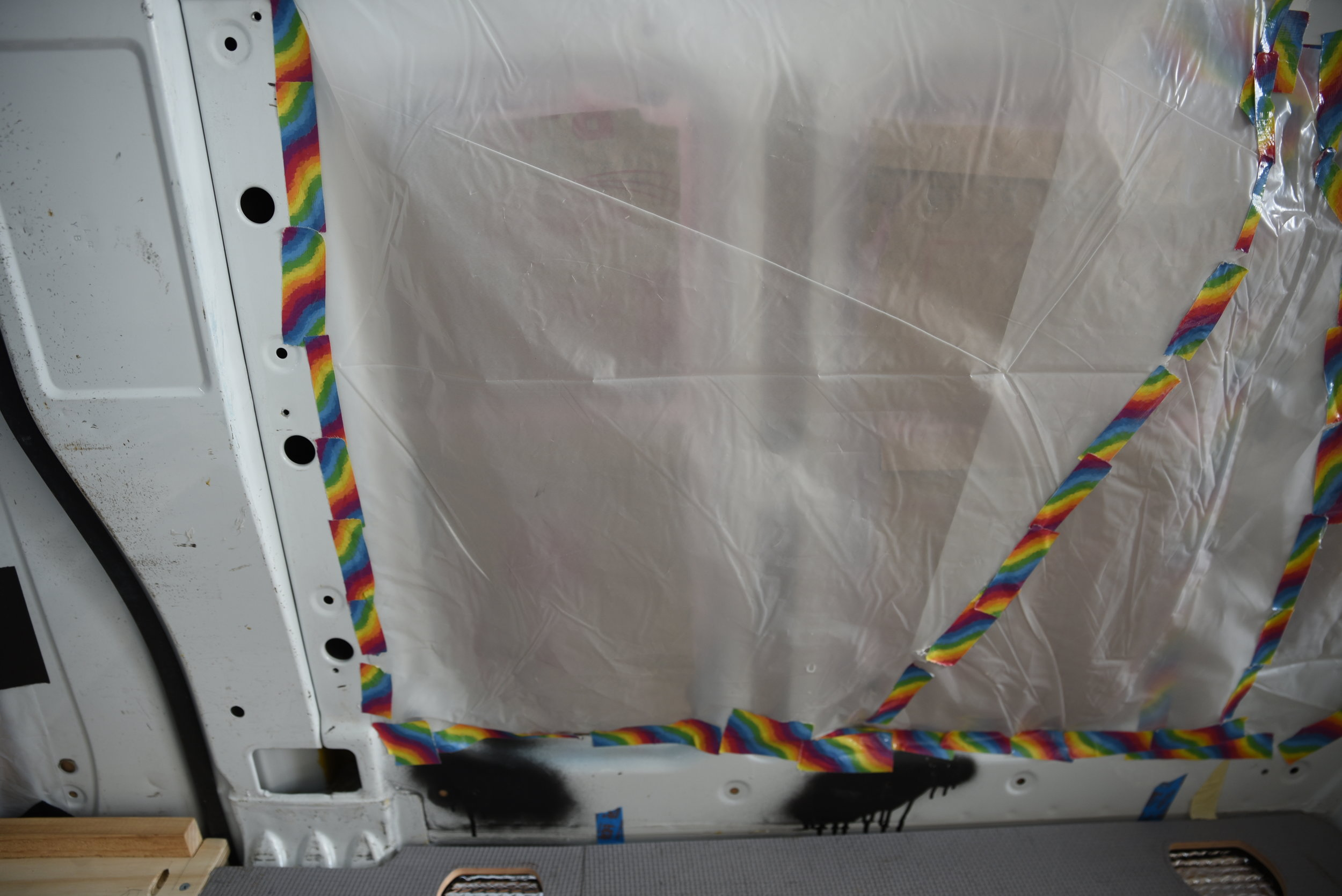 Rainbow duct tape is not required, but it is a bit more fun.