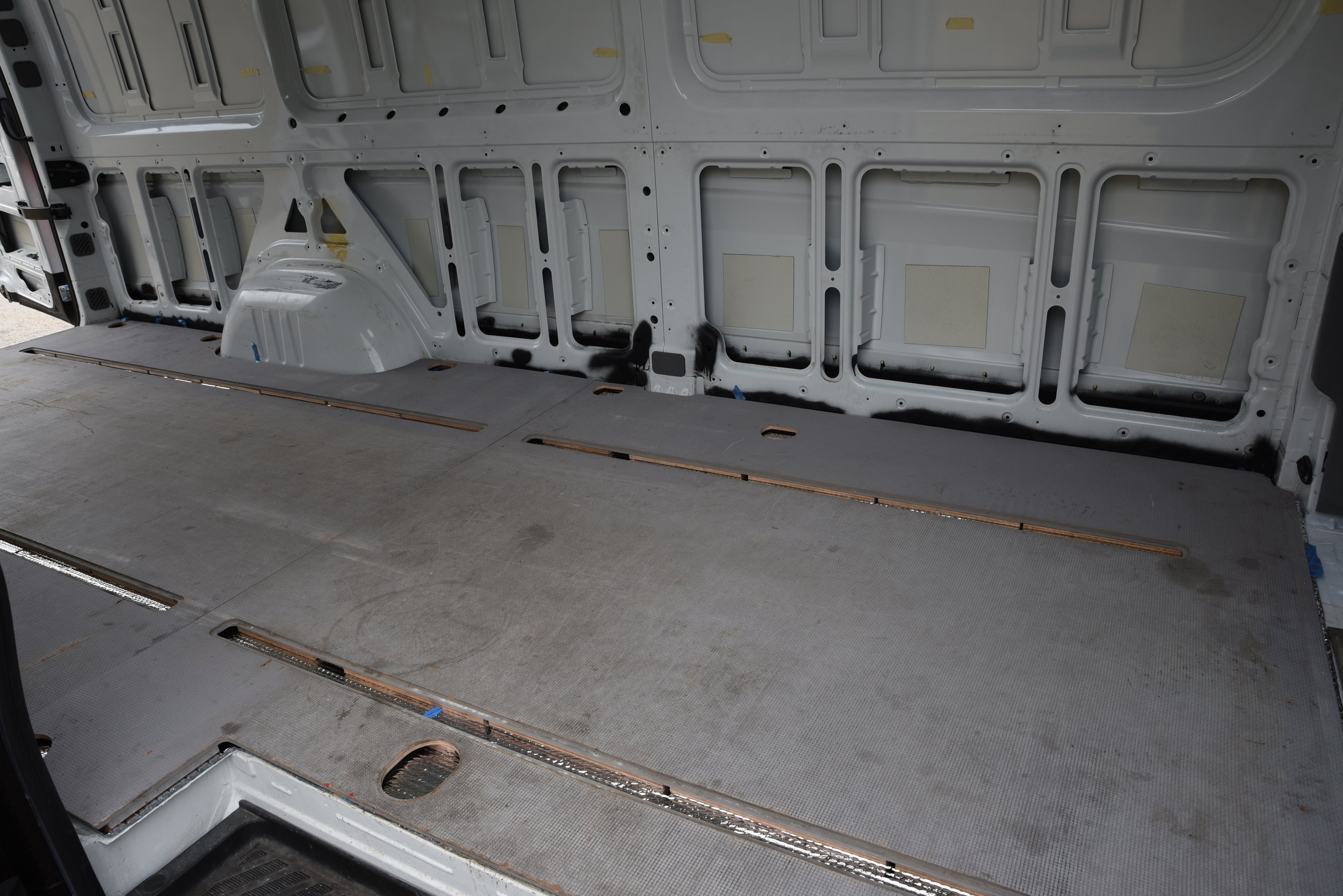 The subfloor of our van that came with it when we purchased it.
