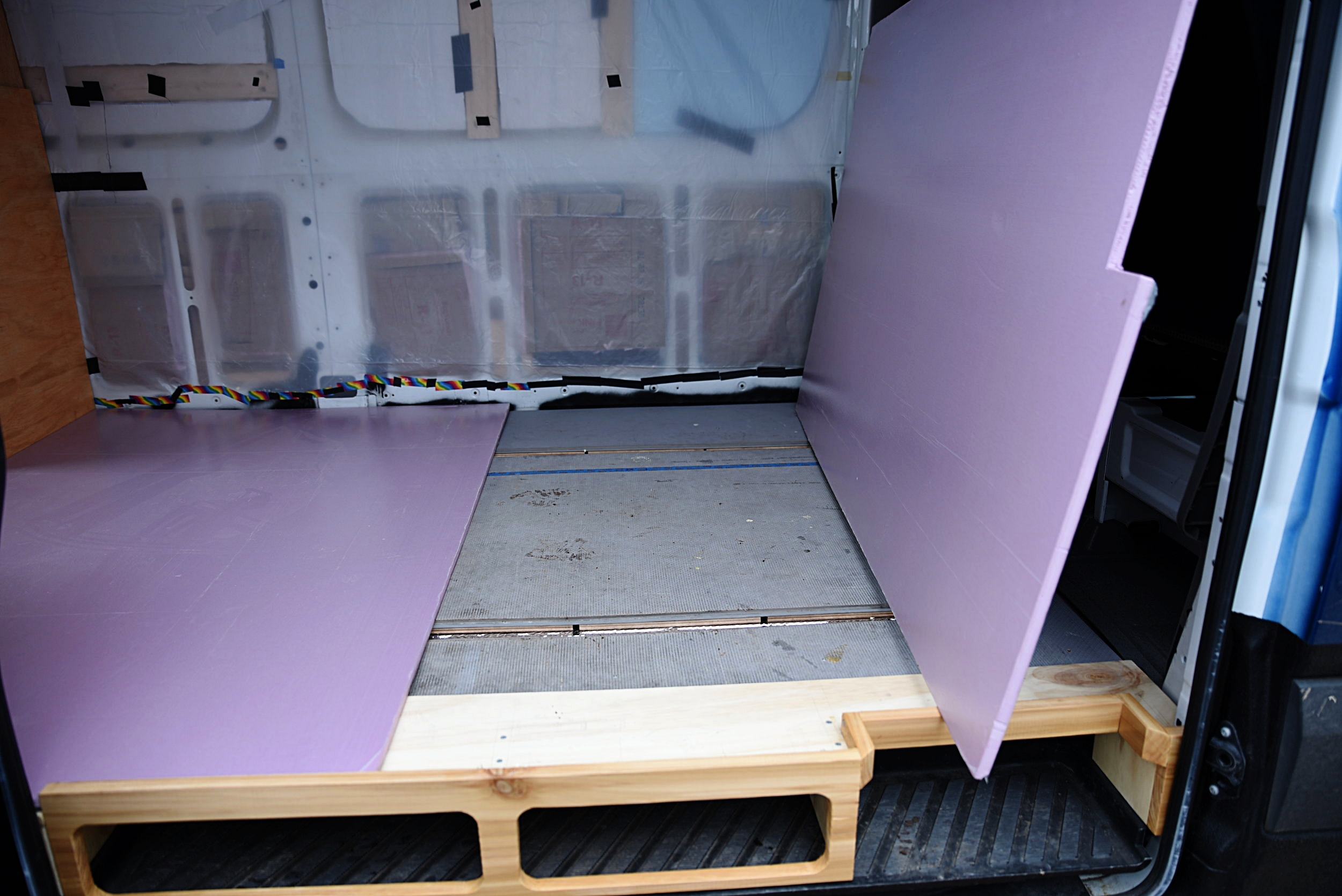 1/2-inch XPS insulation under our floor adds an R-value of 3.0 to keep or toes warm on cold mornings.